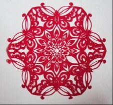 剪纸的折法傹�.���_折叠剪纸
