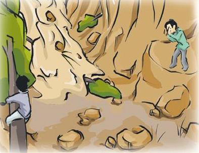 泥石流图片