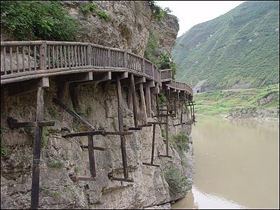mrb8 汉中市  汉中石门栈道风景区位于汉中市汉台区,勉县,留坝三县(区