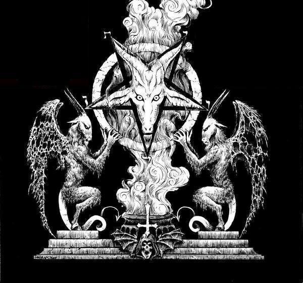 欧美认为魔鬼撒旦的标志是五星羊头