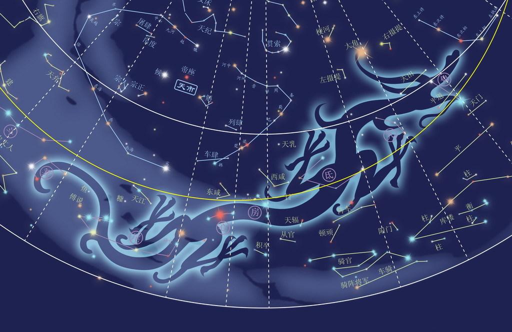 青龙星宿图图片