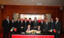 愛爾蘭總理出席該校國際合作簽字儀式