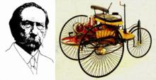 本茨研制的世界上第一辆汽车
