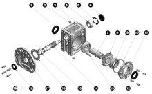 铝合金减速机孔输出型分解图