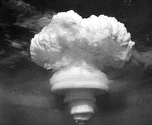 1964年10中国第一颗原子弹爆炸成功。