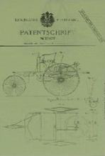 卡尔·本茨的专利证书