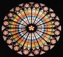 法国斯特拉斯堡大教堂的玫瑰窗