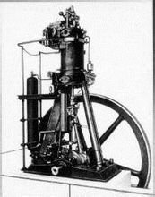 狄塞尔发明的第一台柴油机