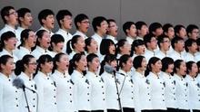 77名南京青少年代表诵读《和平宣言》