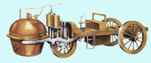 居纽研制的蒸汽驱动的汽车