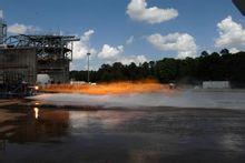 3D打印火箭喷射器的测试