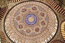 埃迪尔内的Selimiye清真寺内部设计