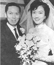 葛兰与夫婿高福全先生的新婚俪影