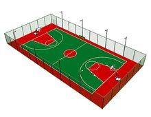 塑胶篮球场矢量图