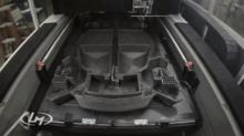 车身上靠3D打印出的部件总数为40个