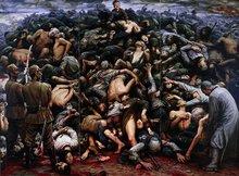 南京大屠杀油画