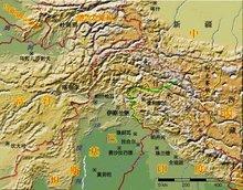 克什米尔地区地形图