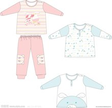 嬰兒服裝設計矢量圖__兒童
