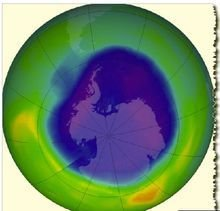 南极上空臭氧层空洞