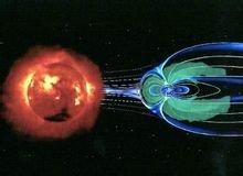 近日地空間的地球磁層圖