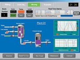 Wonderware Intouch SCADA Reactor Tank demo application