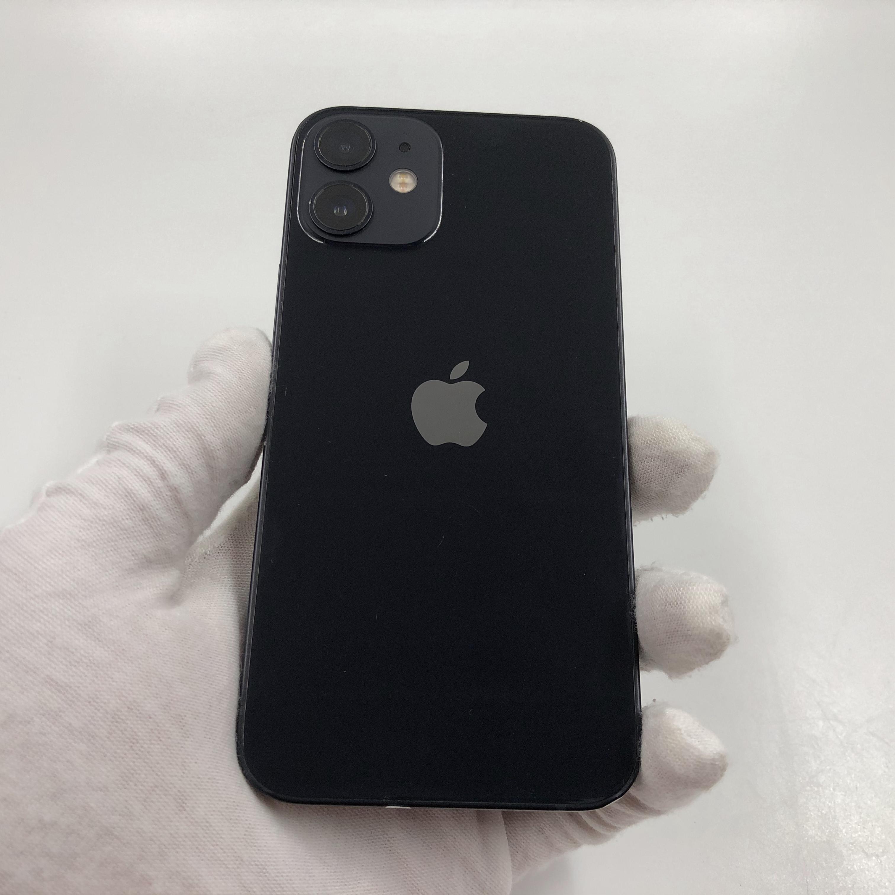 苹果【iPhone 12 mini】5G全网通 黑色 128G 国行 8成新 真机实拍官保2021-12-11