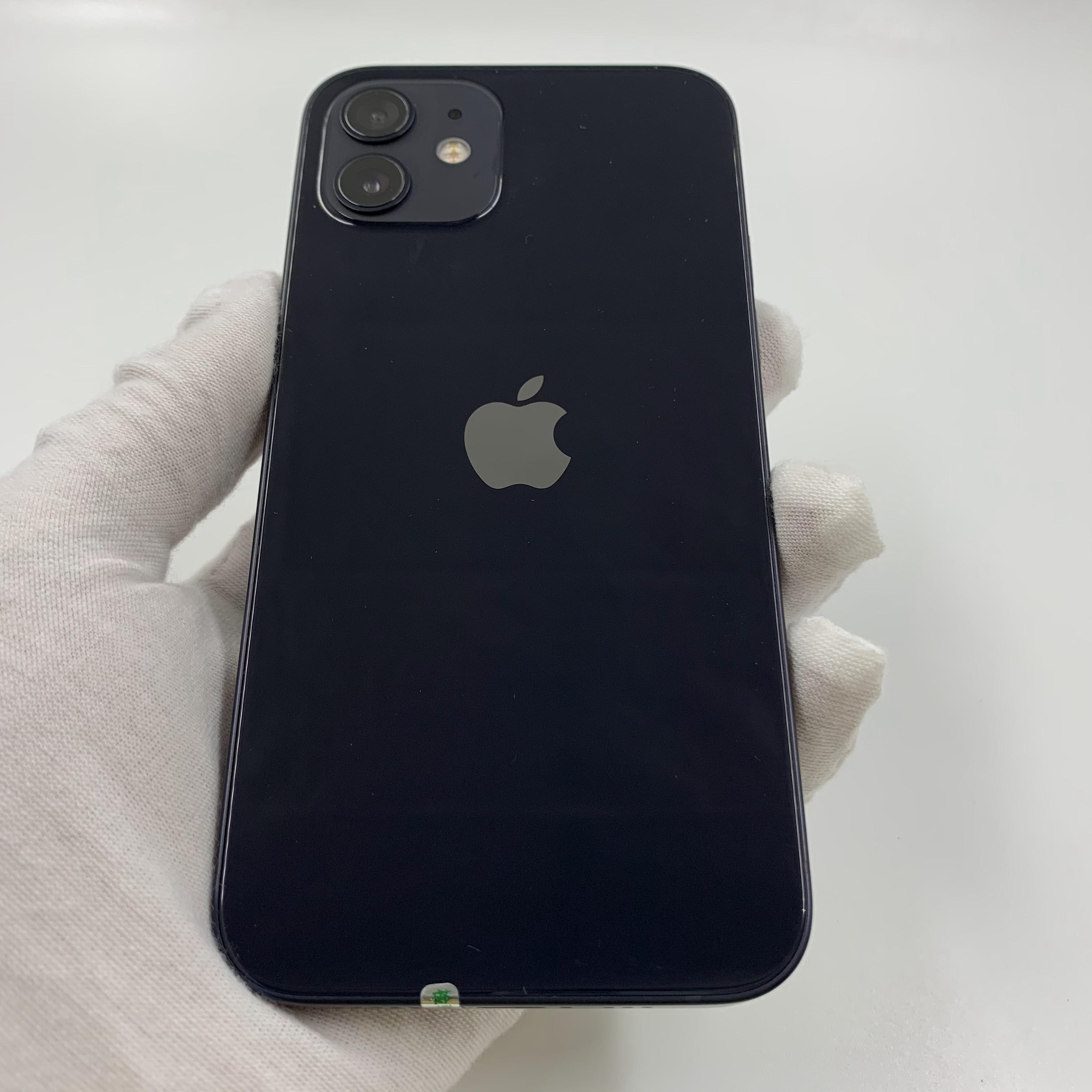 苹果【iPhone 12】5G全网通 黑色 64G 国行 95新 真机实拍官保2021-12-29