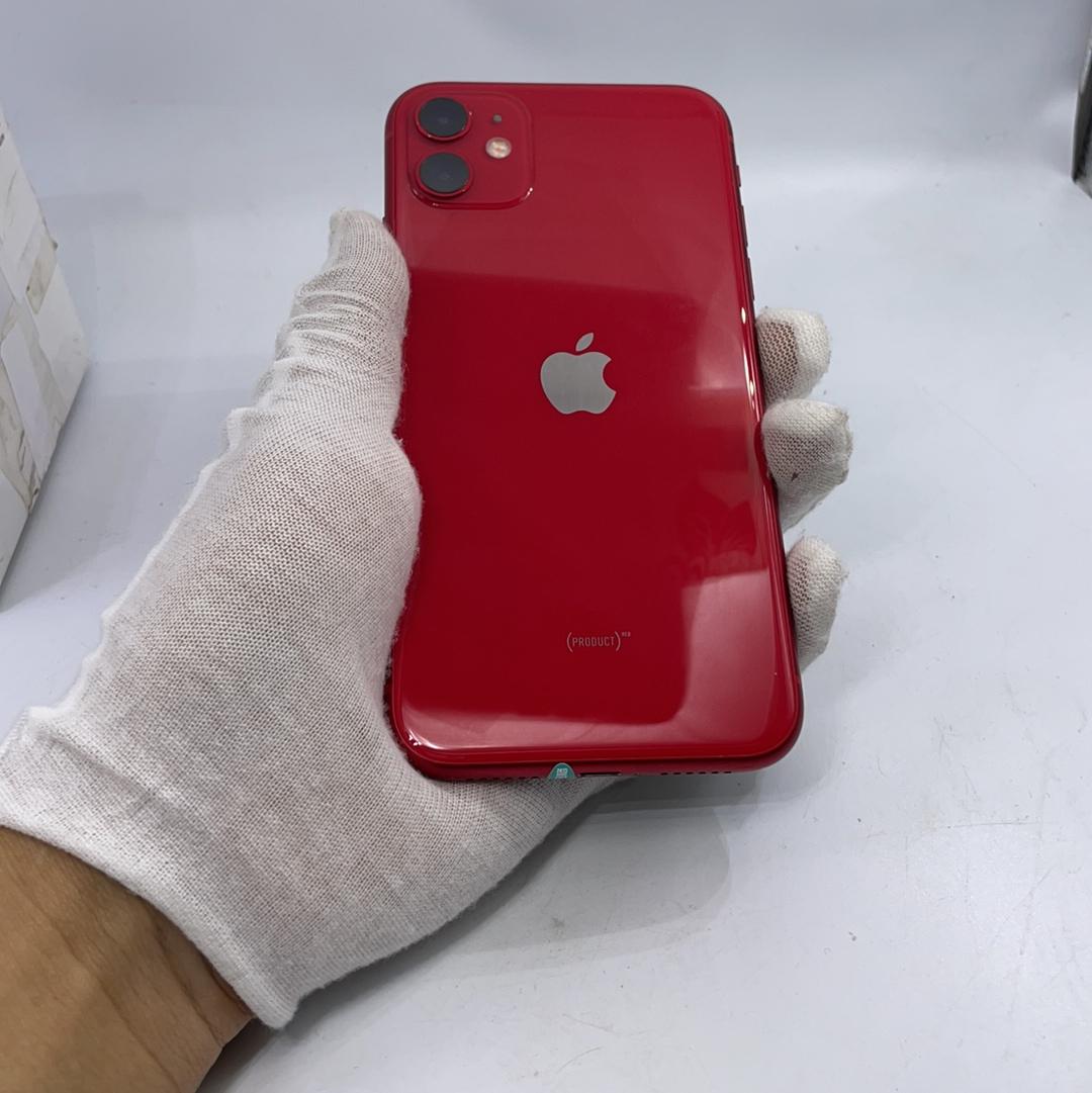 苹果【iPhone 11】4G全网通 红色 128G 国行 9成新
