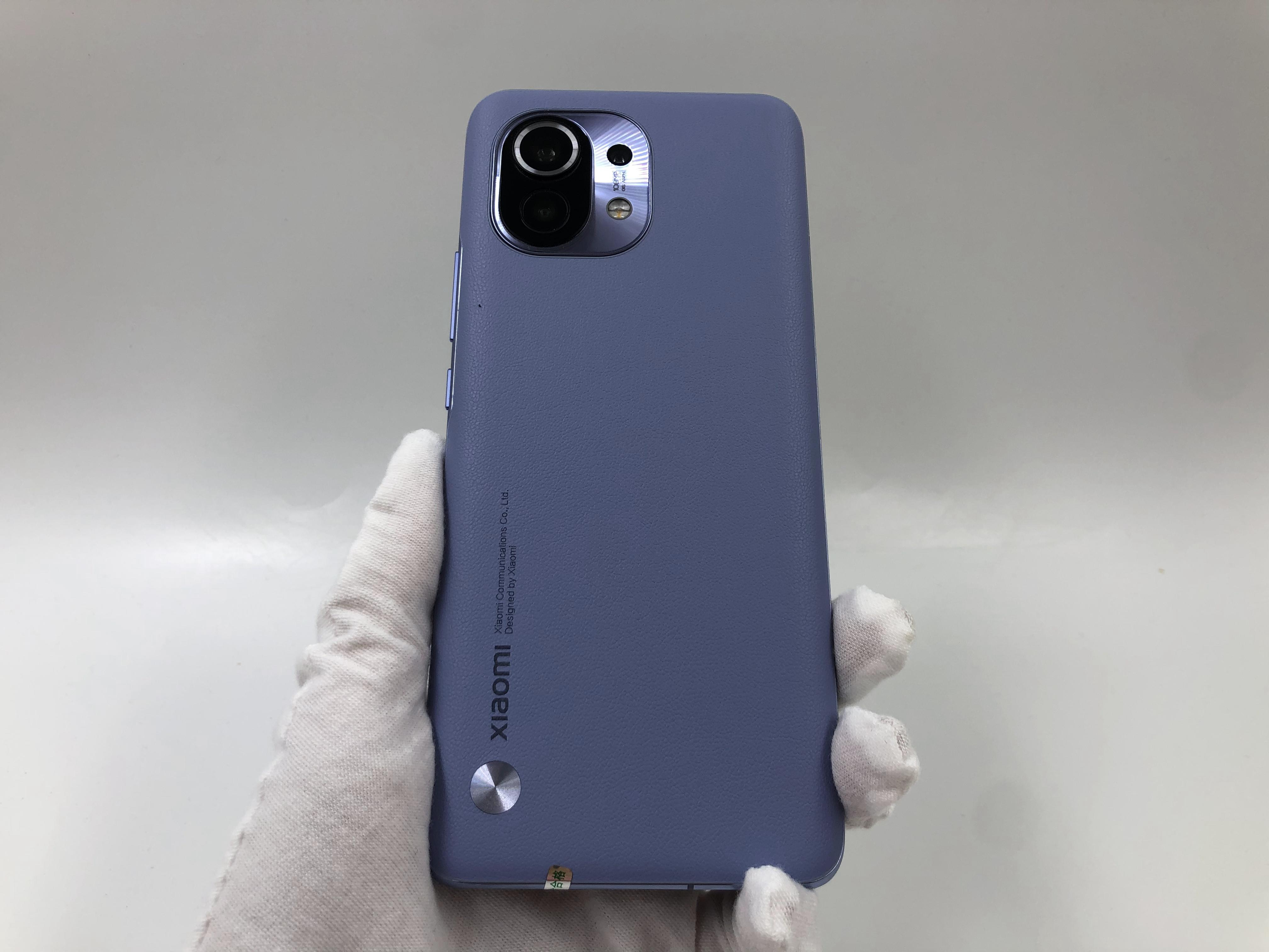 小米【小米11 5G】5G全网通 烟紫(素皮) 8G/128G 国行 99新 真机实拍