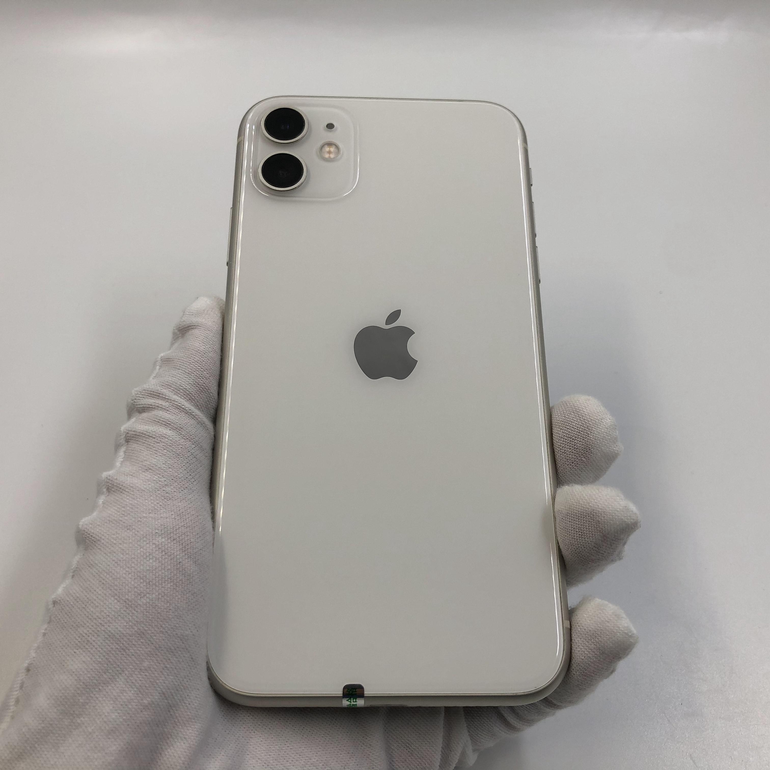 苹果【iPhone 11】4G全网通 白色 64G 国行 7成新 真机实拍