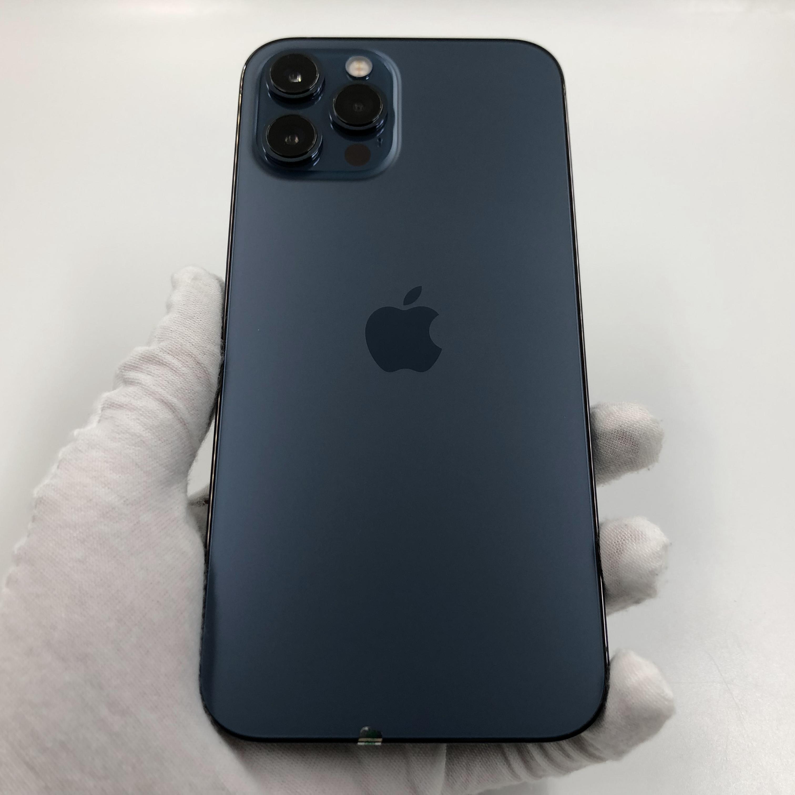 苹果【iPhone 12 Pro Max】5G全网通 海蓝色 128G 国行 95新 真机实拍