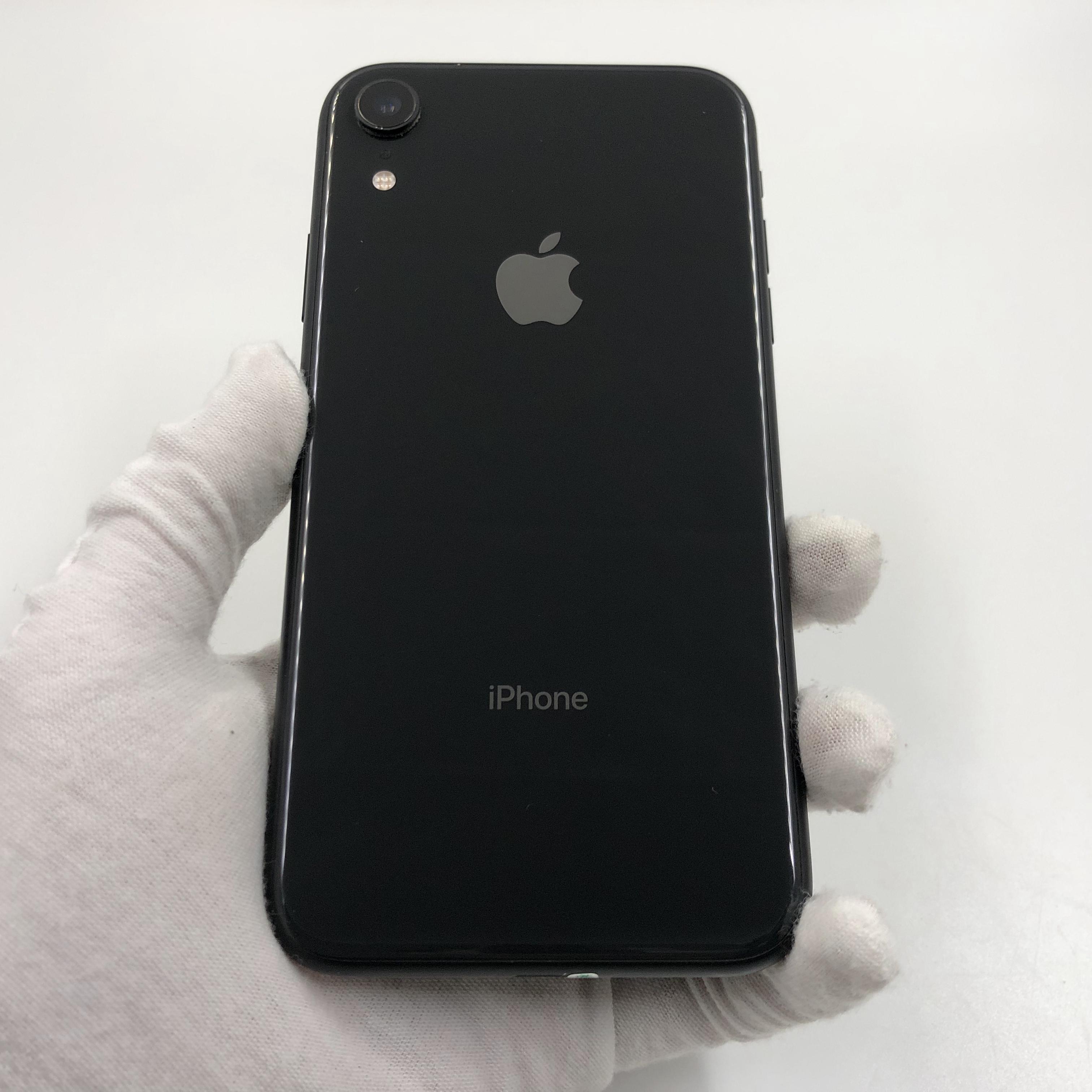 苹果【iPhone XR】4G全网通 黑色 128G 国行 9成新 真机实拍