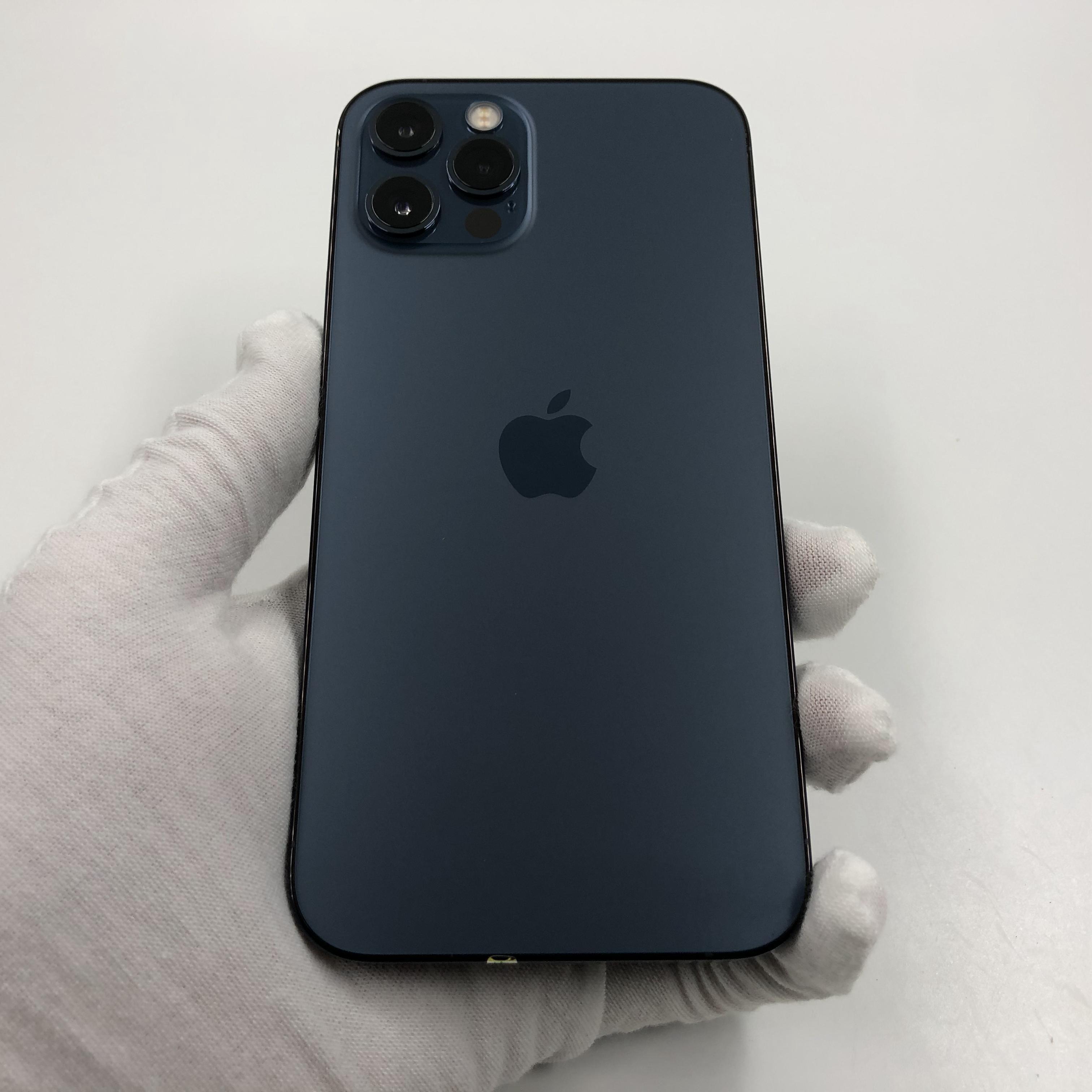 苹果【iPhone 12 Pro】5G全网通 海蓝色 128G 国行 95新 真机实拍官保2021-11-22