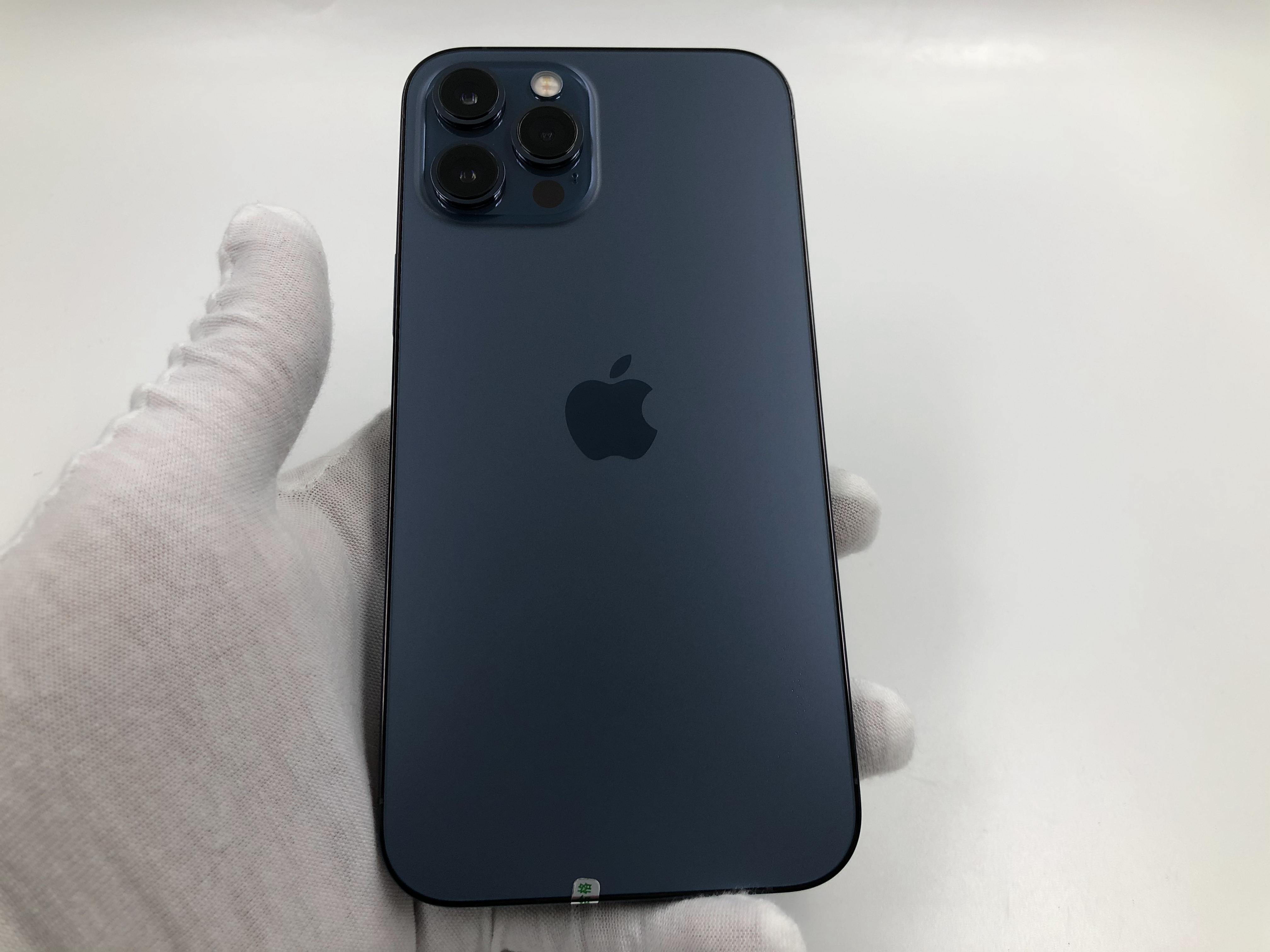 苹果【iPhone 12 Pro Max】5G全网通 海蓝色 256G 国行 95新 真机实拍保修2021-11-22