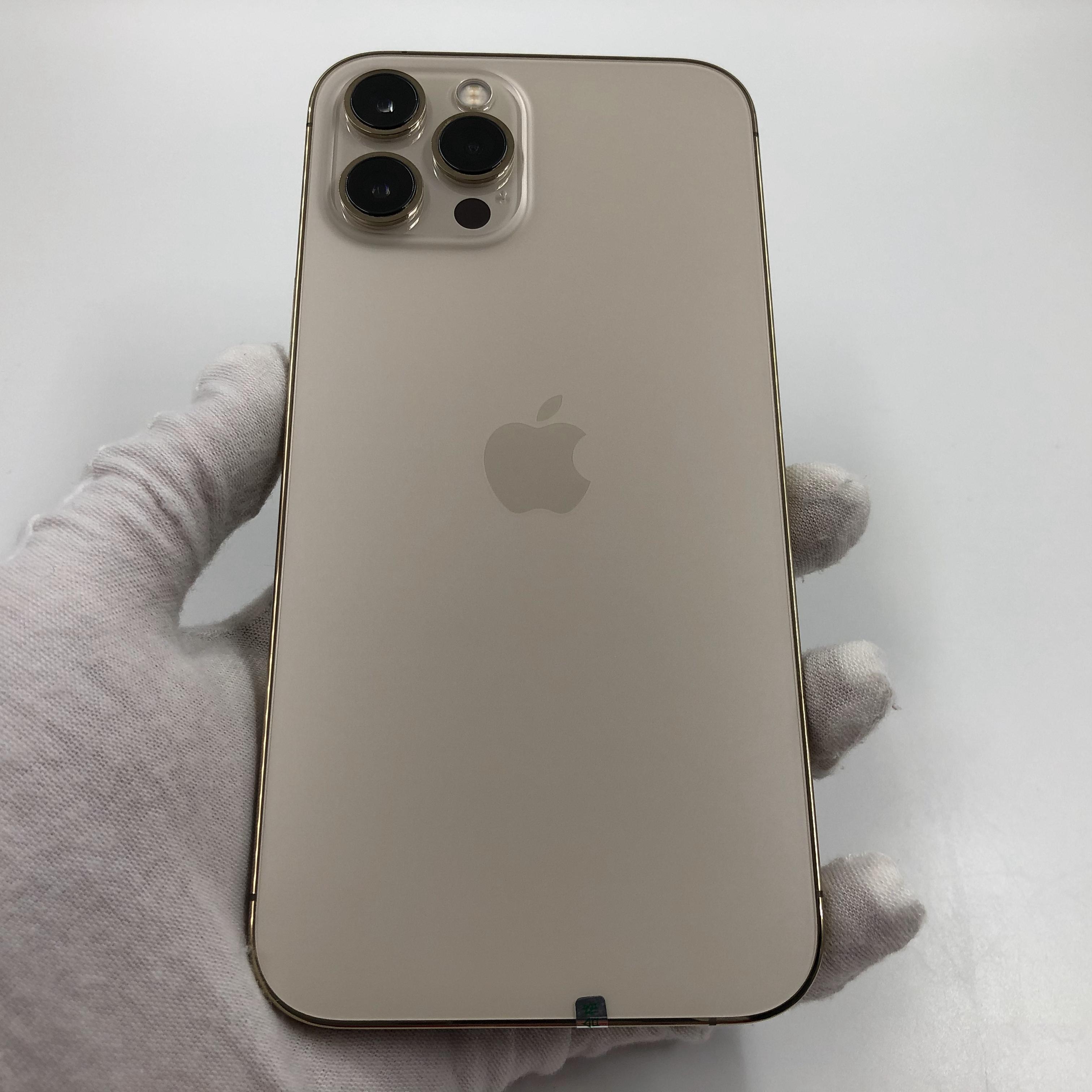 苹果【iPhone 12 Pro Max】5G全网通 金色 128G 国行 95新 真机实拍官保2022-04-15