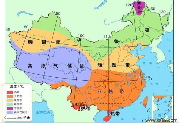 中国干湿地区空白图_亚热带气候_360百科