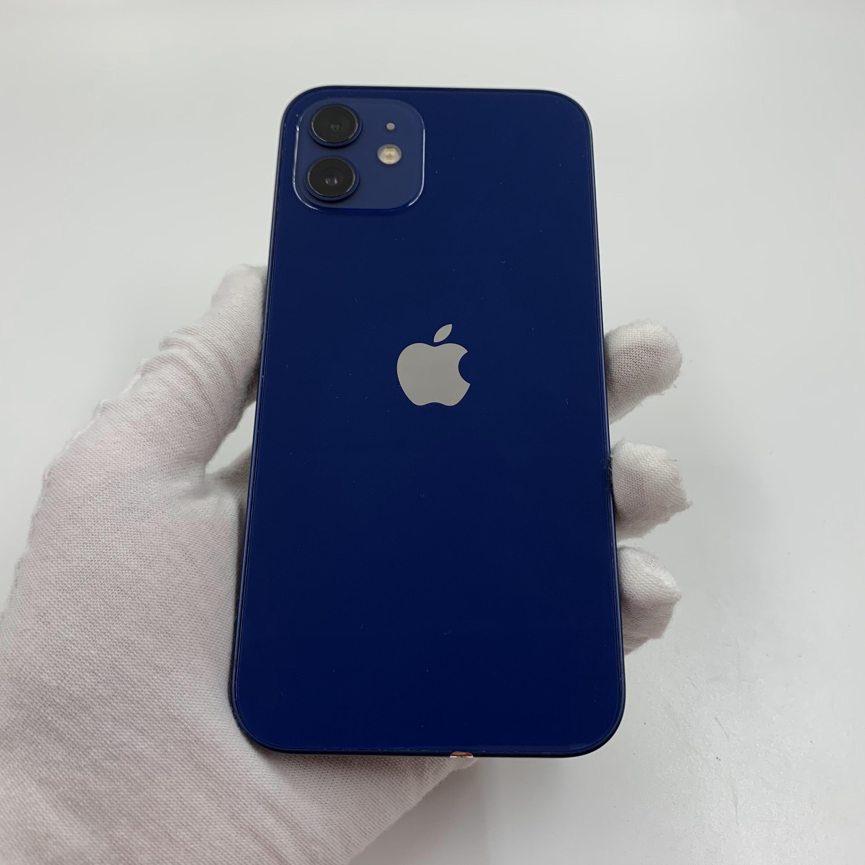 苹果【iPhone 12】5G全网通 蓝色 64G 国行 95新 真机实拍官保2021-11-17