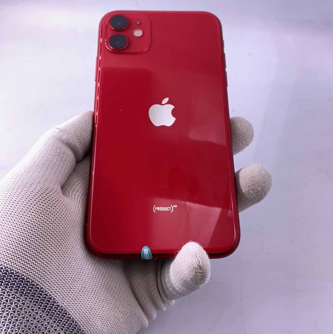 苹果【iPhone 11】4G全网通 红色 128G 国行 95新