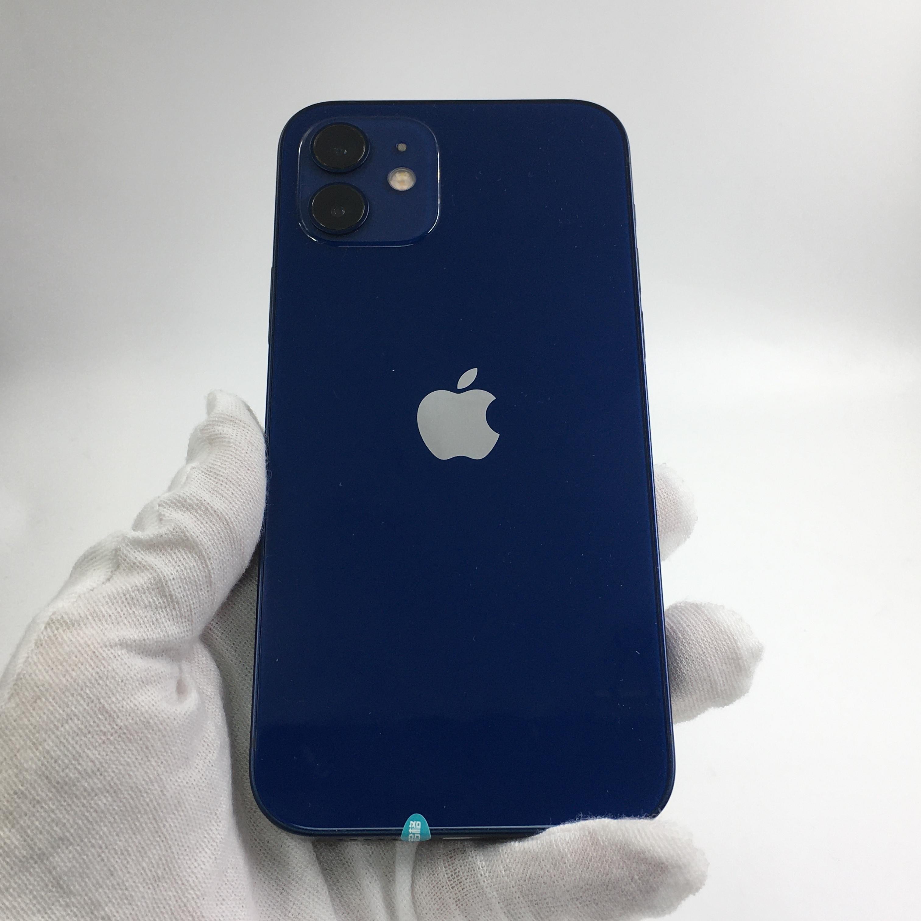 苹果【iPhone 12】5G全网通 蓝色 128G 国行 99新 128G真机实拍原装数据线