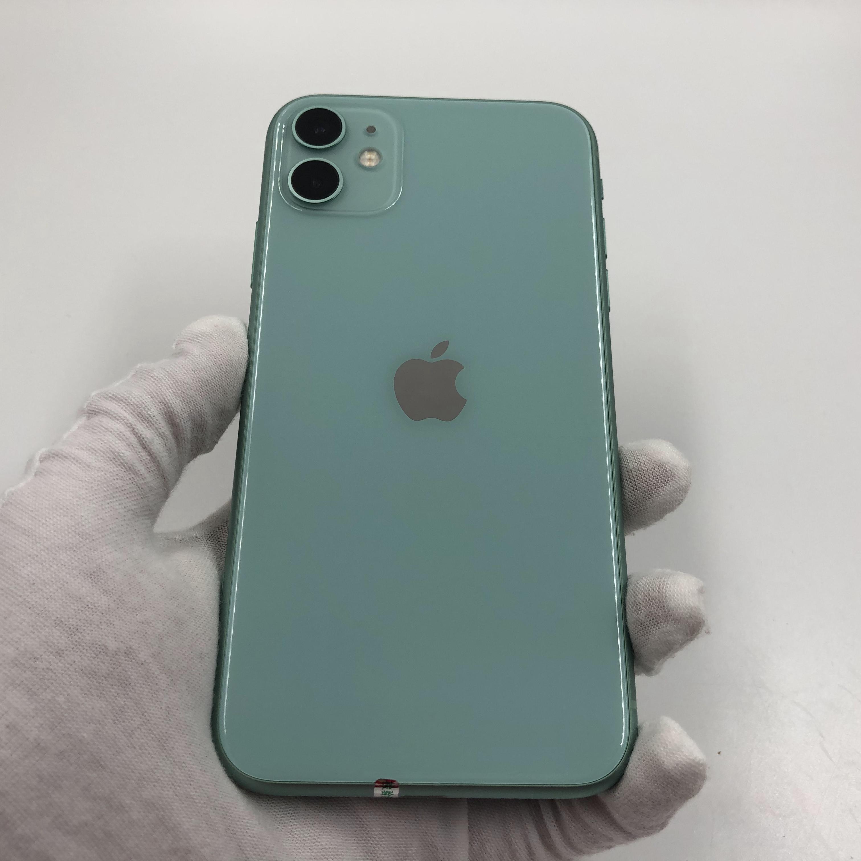 苹果【iPhone 11】4G全网通 绿色 128G 国行 8成新 真机实拍