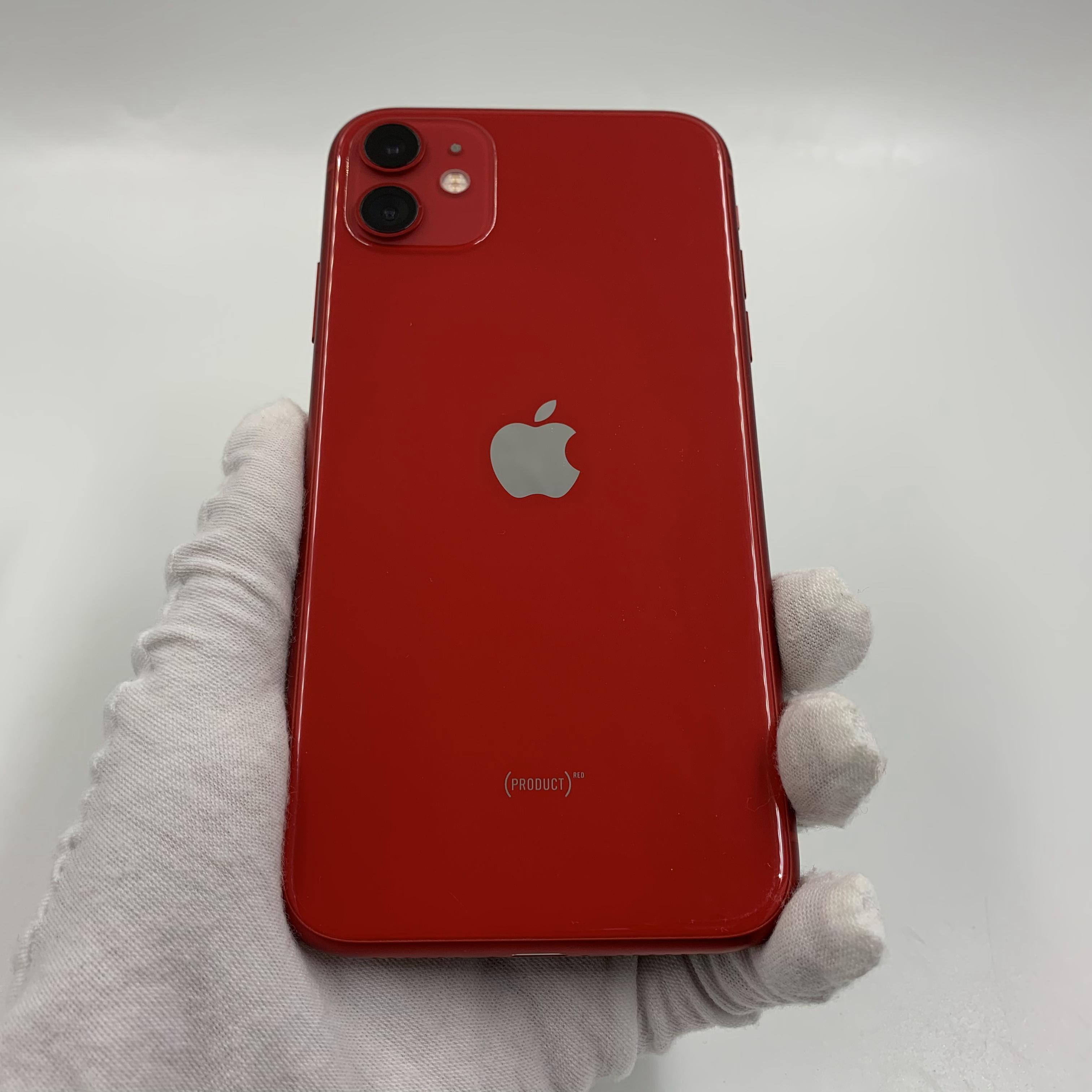 苹果【iPhone 11】4G全网通 红色 128G 国行 9成新 真机实拍
