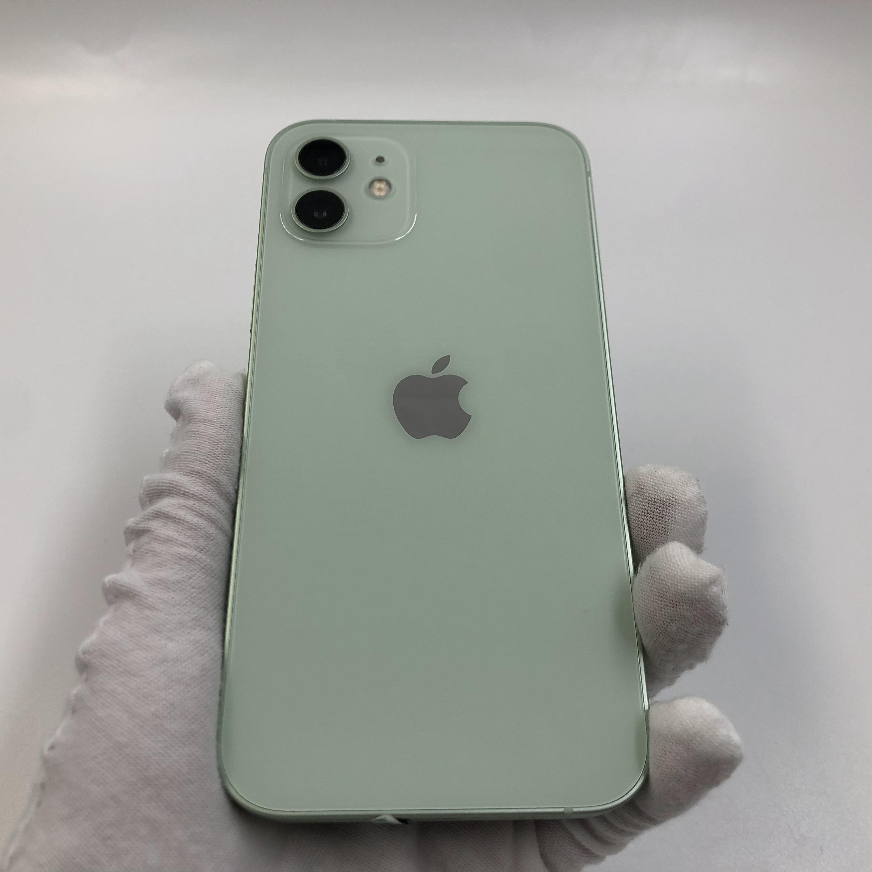 苹果【iPhone 12】5G全网通 绿色 128G 国行 99新 真机实拍保修2022-02-07