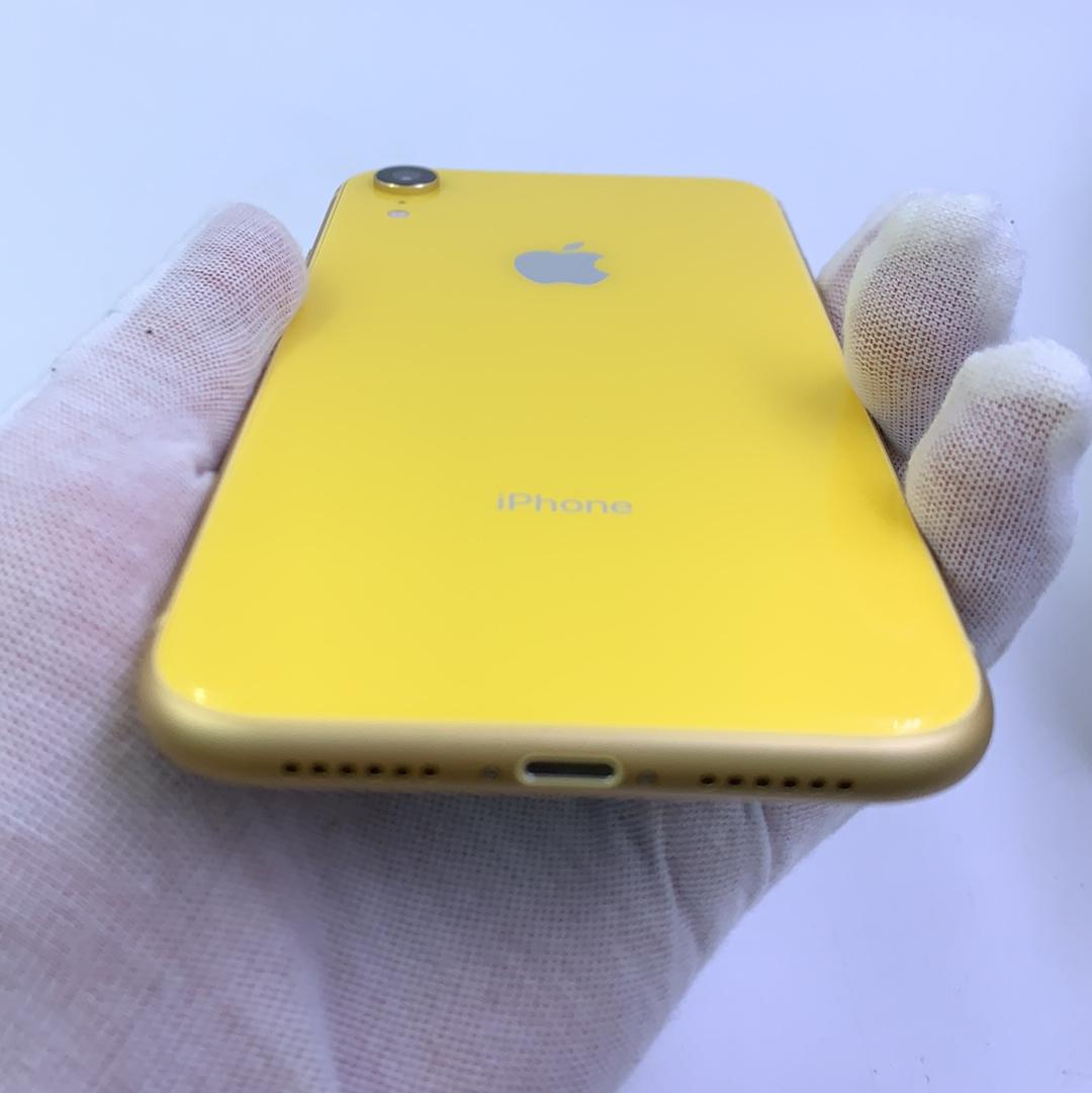 苹果【iPhone XR】4G全网通 黄色 128G 国际版 9成新