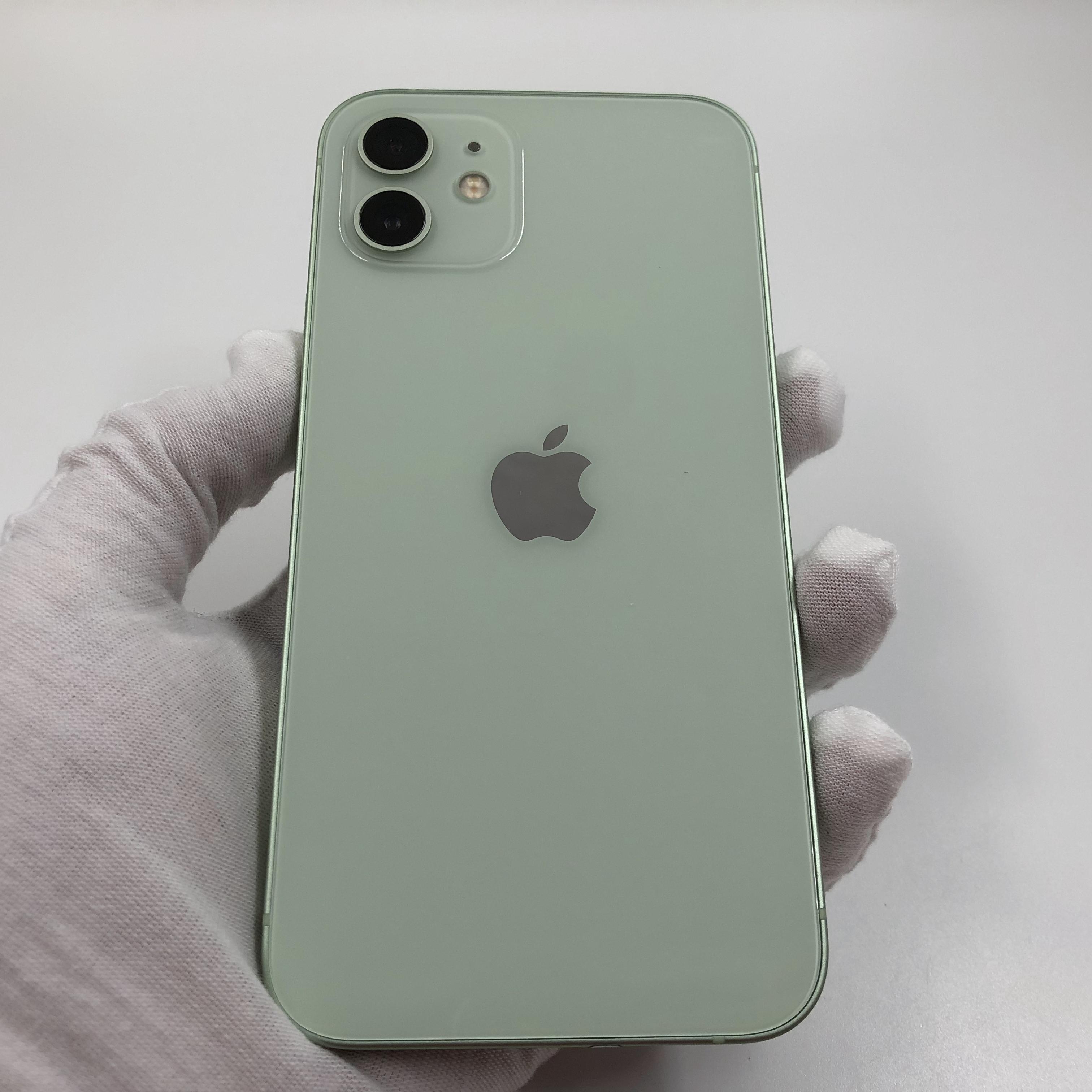 苹果【iPhone 12】5G全网通 绿色 128G 国行 99新 真机实拍官保2021-11-01