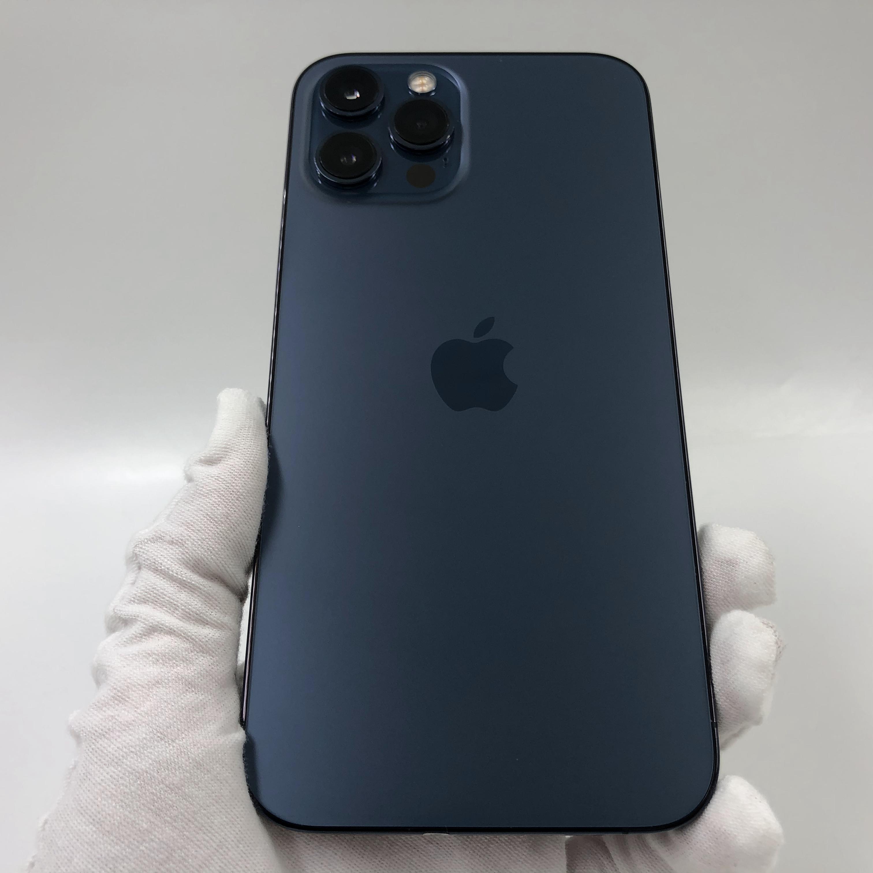 苹果【iPhone 12 Pro Max】5G全网通 海蓝色 256G 国行 95新 真机实拍官保2022-01-18