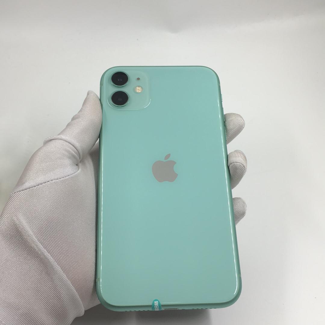 苹果【iPhone 11】4G全网通 绿色 128G 国行 95新 128G真机实拍