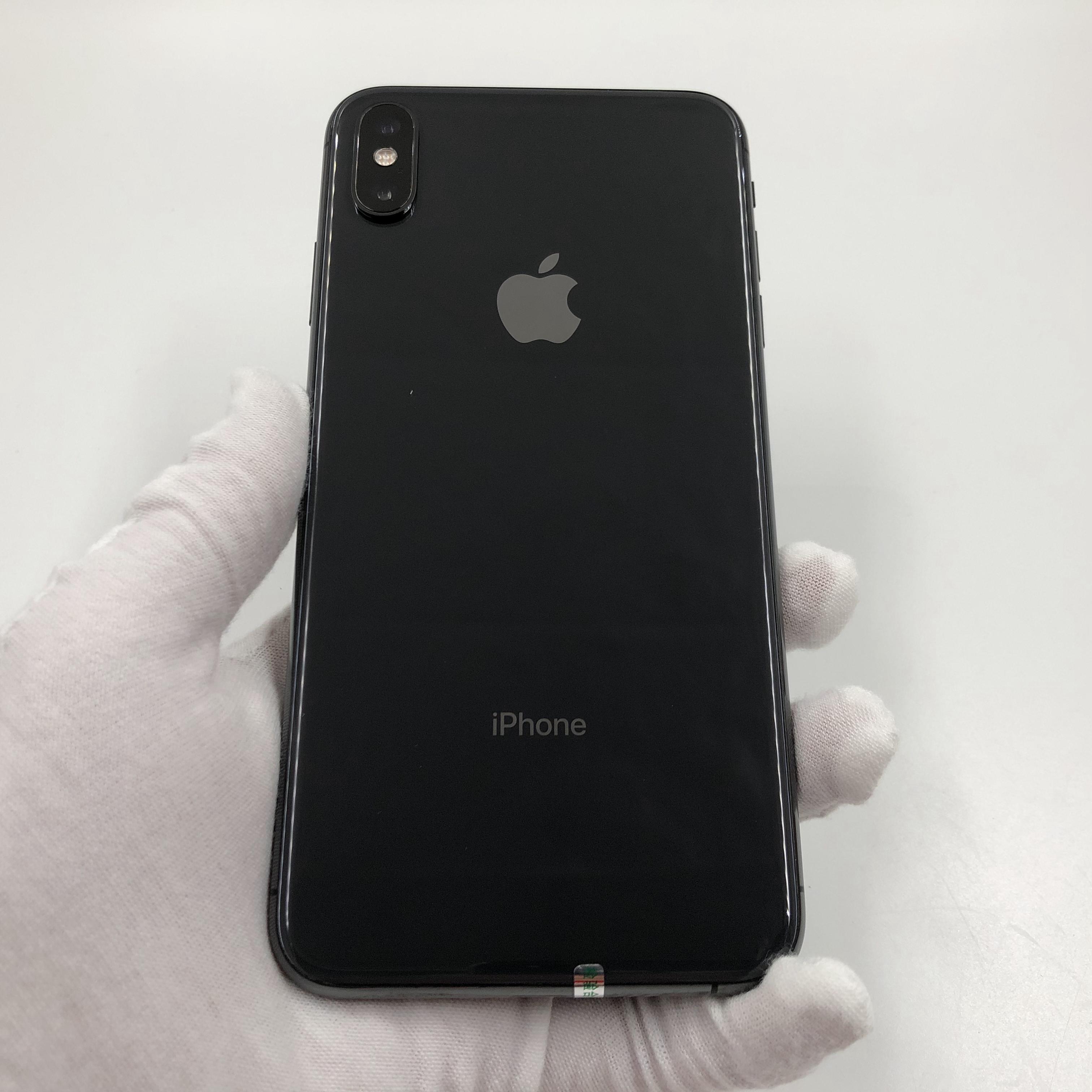 苹果【iPhone Xs Max】4G全网通 深空灰 64G 国行 95新 真机实拍
