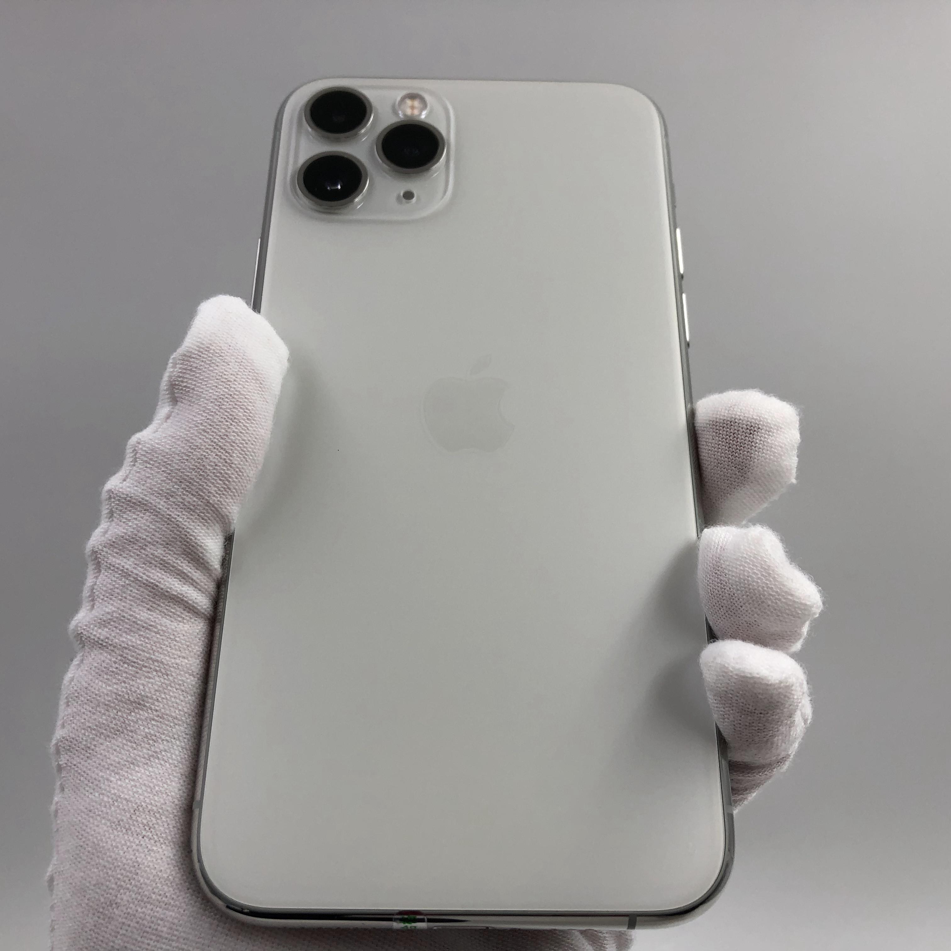 苹果【iPhone 11 Pro】4G全网通 银色 256G 国行 8成新 真机实拍